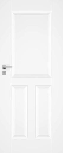 Interiérové dveře NATUREL Nestra1, 70 cm, bílé, lak, levé, WC, NESTRA170L