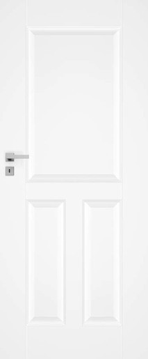 Interiérové dveře NATUREL Nestra1, 70 cm, bílé, lak, pravé, WC, NESTRA170P