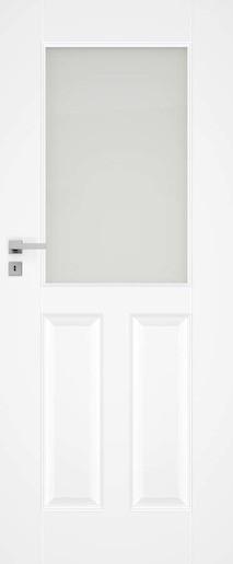Interiérové dveře NATUREL Nestra2, 60 cm, bílé, lak, levé, WC, NESTRA260L