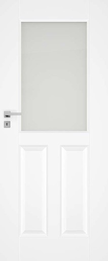 Interiérové dveře NATUREL Nestra2, 90 cm, bílé, lak, pravé WK, NESTRA290P