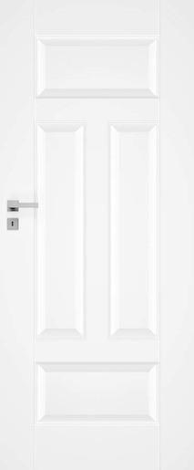 Interiérové dveře NATUREL Nestra3, 60 cm, bílé, lak, levé, WC, NESTRA360L