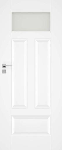 Interiérové dveře NATUREL Nestra4, 60 cm, bílé, lak, pravé, WC, NESTRA460P