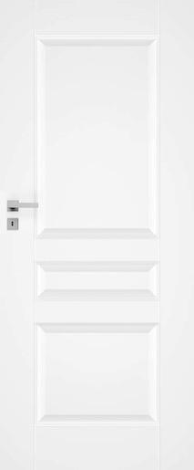 Interiérové dveře NATUREL Nestra5, 80 cm, bílé, lak, levé, WC, NESTRA580L