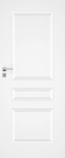 Interiérové dveře NATUREL Nestra5, 80 cm, bílé, lak, pravé, WC, NESTRA580P