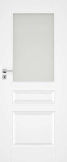 Interiérové dveře NATUREL Nestra6, 80 cm, bílé, lak, levé, WC, NESTRA680L